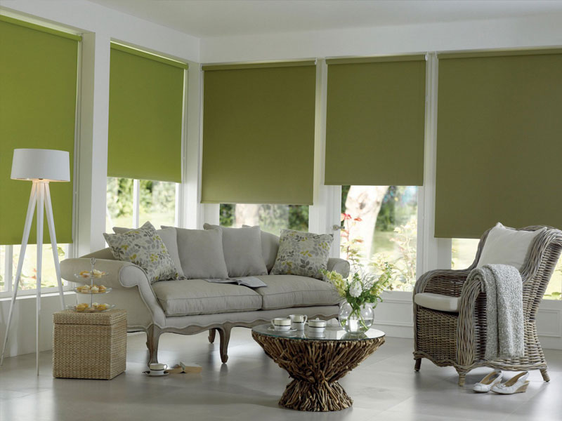 Bloc colour roller blinds