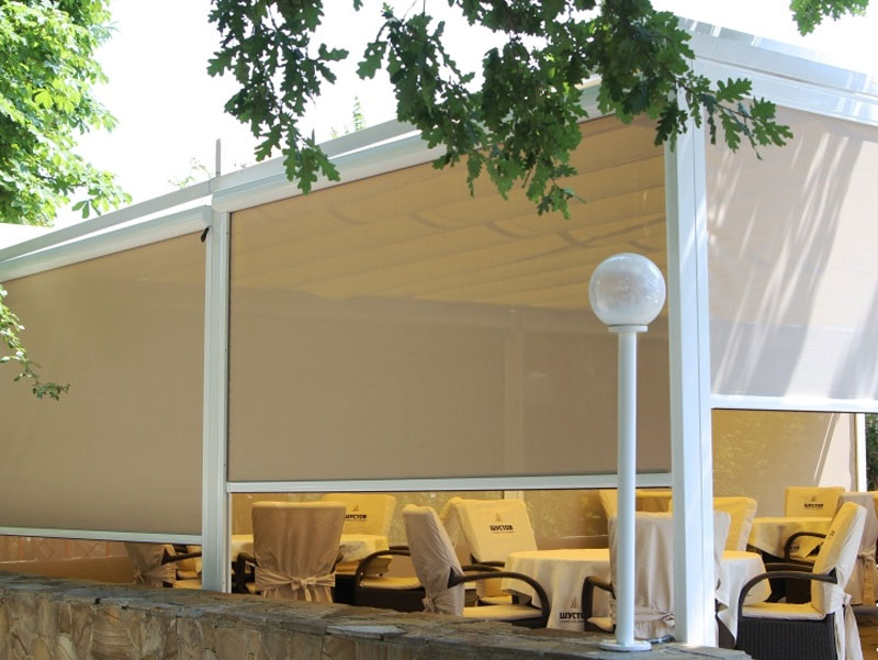 ZIP vertical awnings