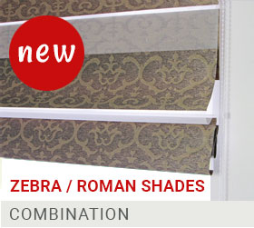 zebra roman shades combination