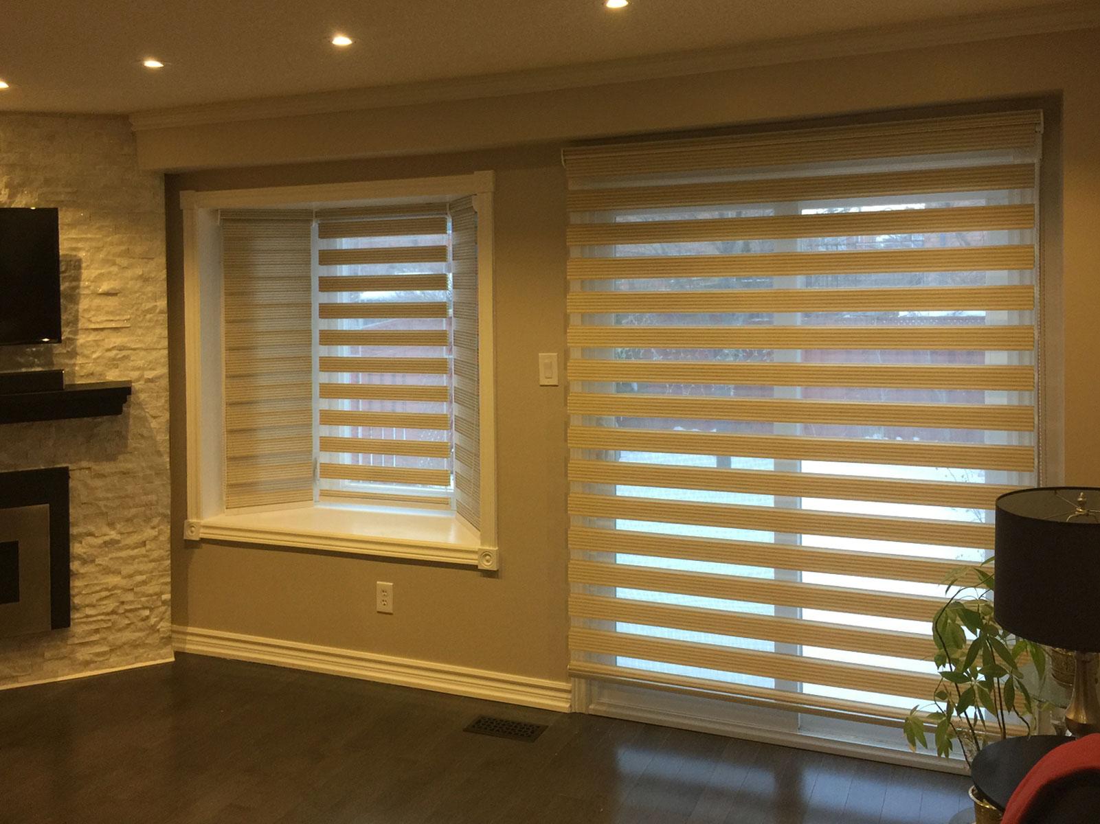 Zebra Shades Bay Window