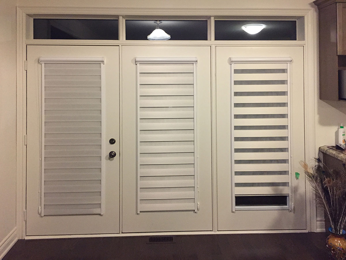 zebra-shades-door-french - Awnings Pergolas Window Shades Blinds Toronto & zebra-shades-door-french - Awnings Pergolas Window Shades Blinds ... pezcame.com