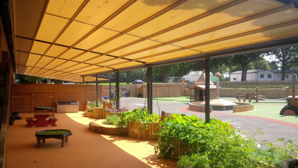 school awning extended